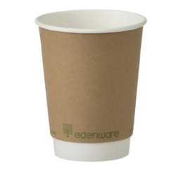 Case 12oz Biodegradable Paper Cups Double Wall