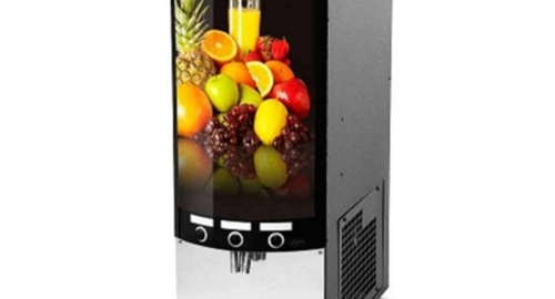 Slimline juice dispensing machine