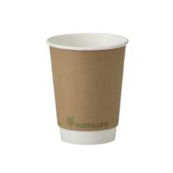 Case 8oz Biodegradable Paper Cups Double Wall