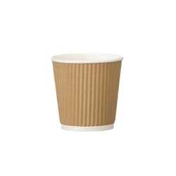 4oz Kraft Ripple Paper Espresso Cups