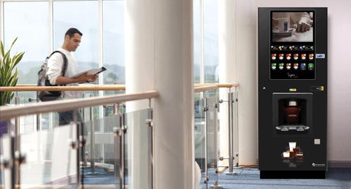 Sigma cafe vending machine in hallway