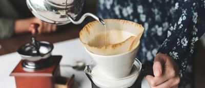brewing coffee with filter paper