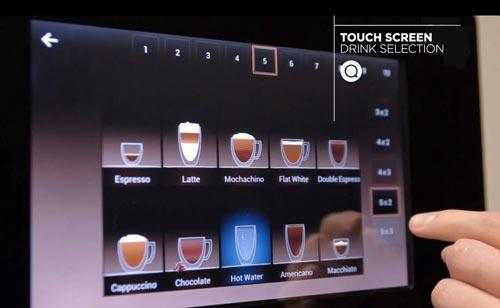 commercial coffee machine with tablet tech
