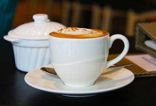 cappuccino in hotel