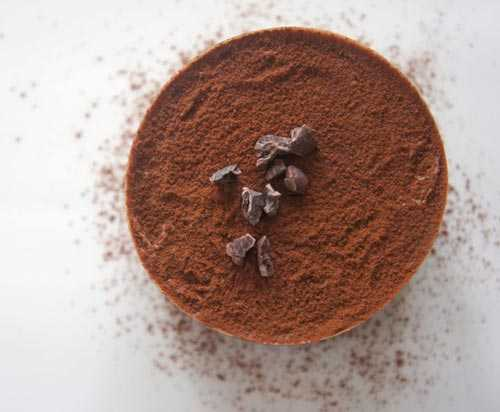 chocolate powder topped drink