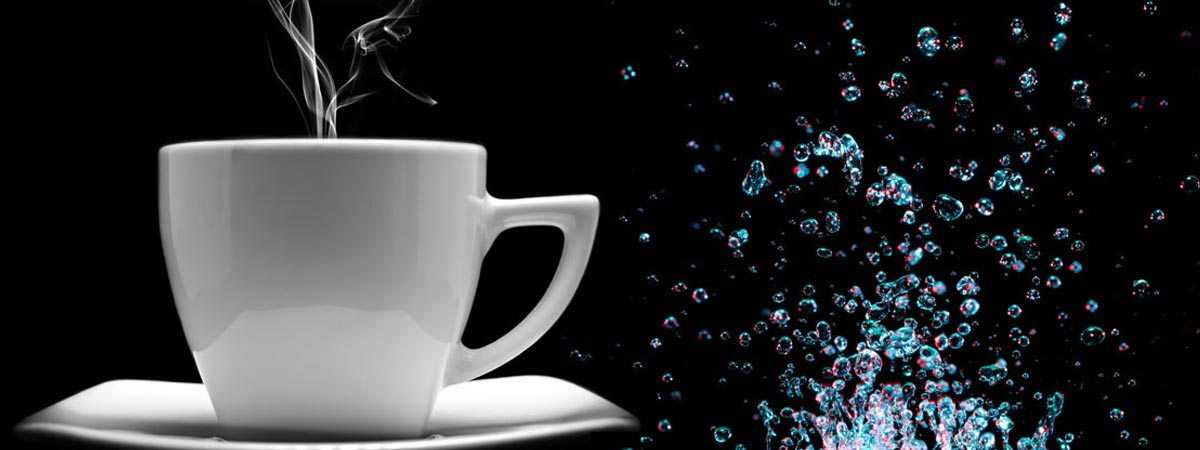 coffee with bubbles