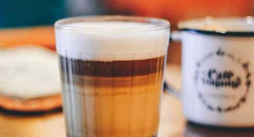 commercial Coffee with foam