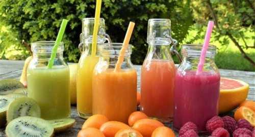 kiwi orange and raspberry juice