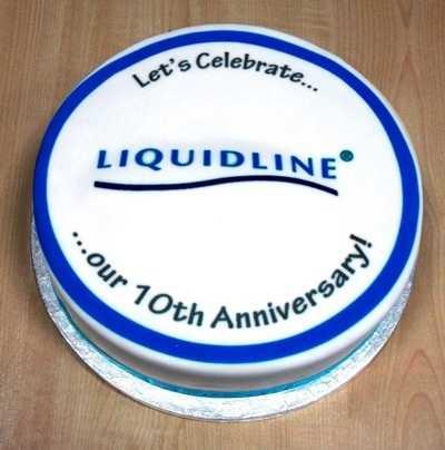 liquidline 10th anniversary cake