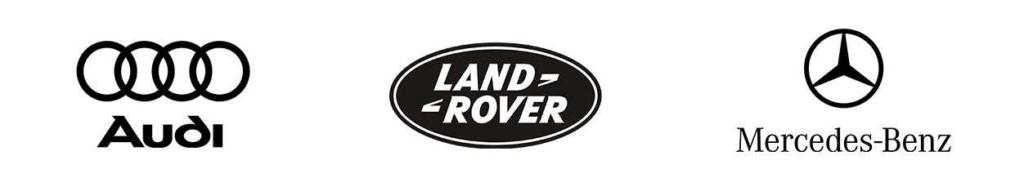 audi, land rover and mercedes benz logo