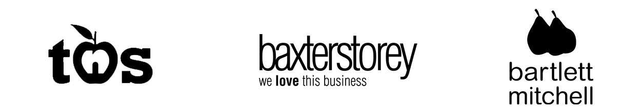 tns, baxterstorey and bartlett mitchell logo