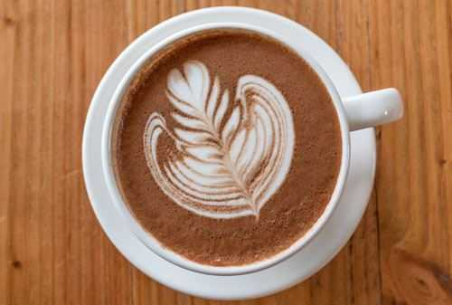 mocha with coffee art