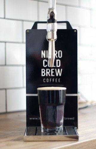 Nitro cold brew machine from front