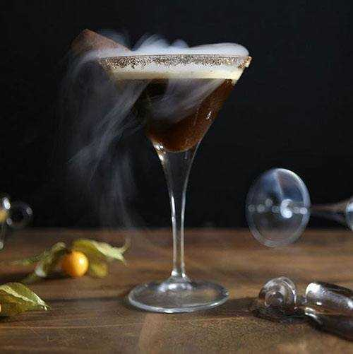 Smoking coffee cocktail