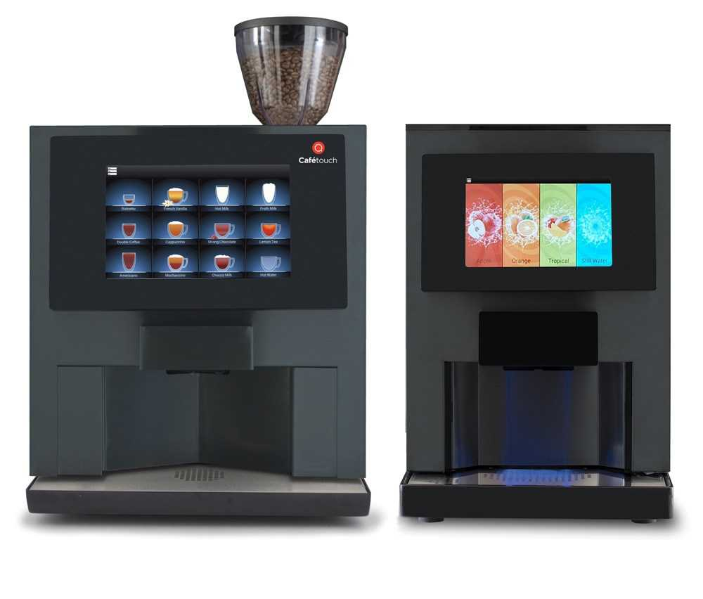 cafetouch and juicetouch commercial machines