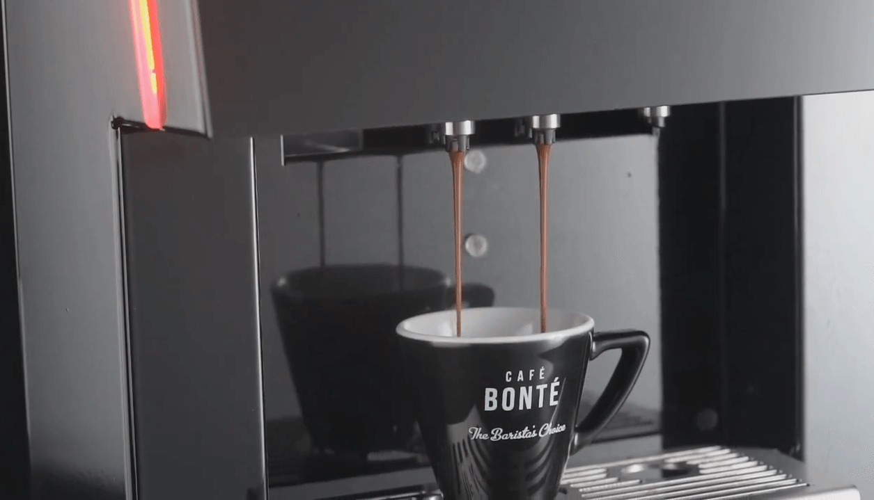 coffee dispensing into cafe bonte cup