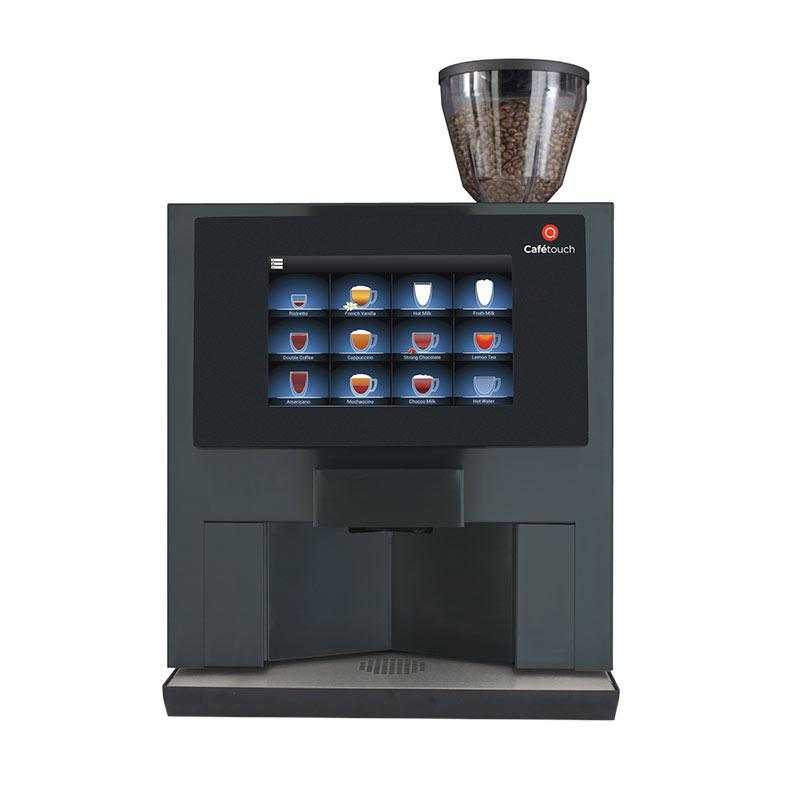 touchscreen commercial coffee machine