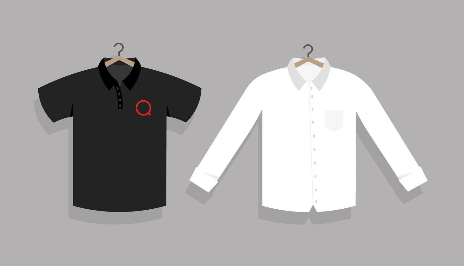 illustration of employee uniforms