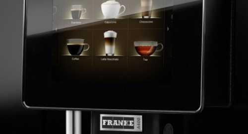 franke a400 touchscreen coffee machine