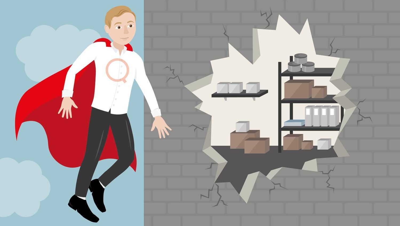 illustration of gavin pooley as a superhero