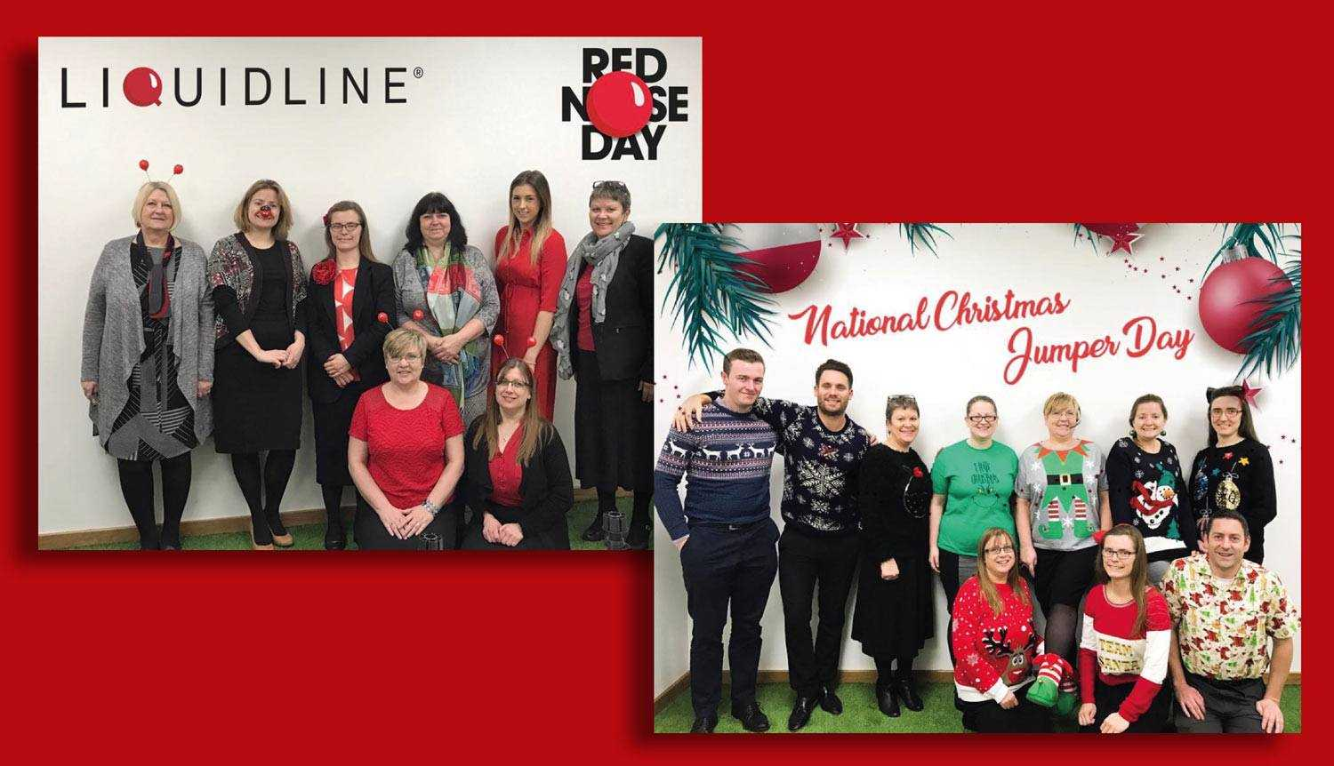 red nose day and christmas jumper day