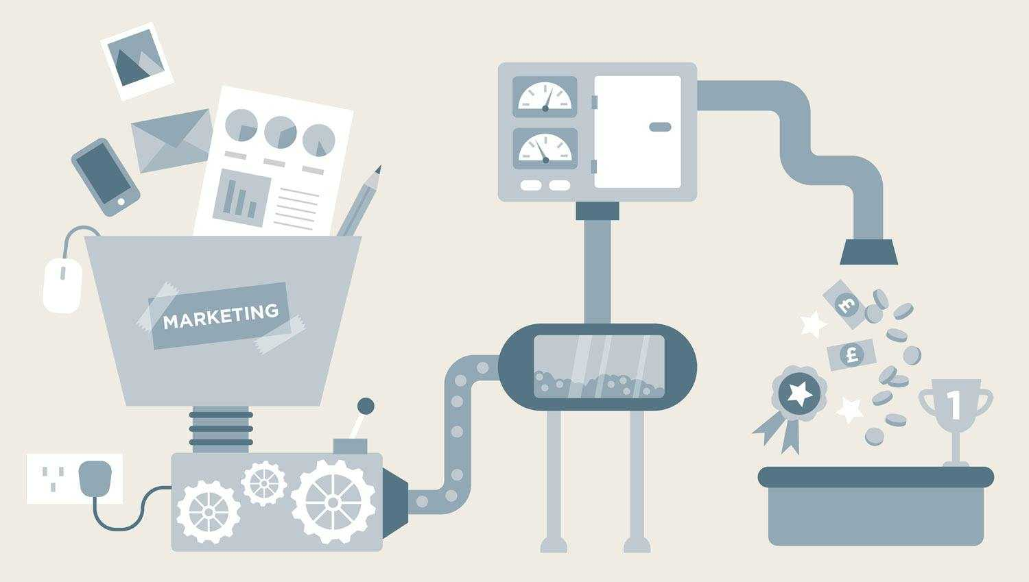marketing machine illustration