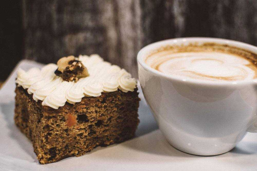 walnut cake and coffee