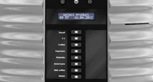 Schaerer coffee art plus coffee machine screen grey black select drink coffee