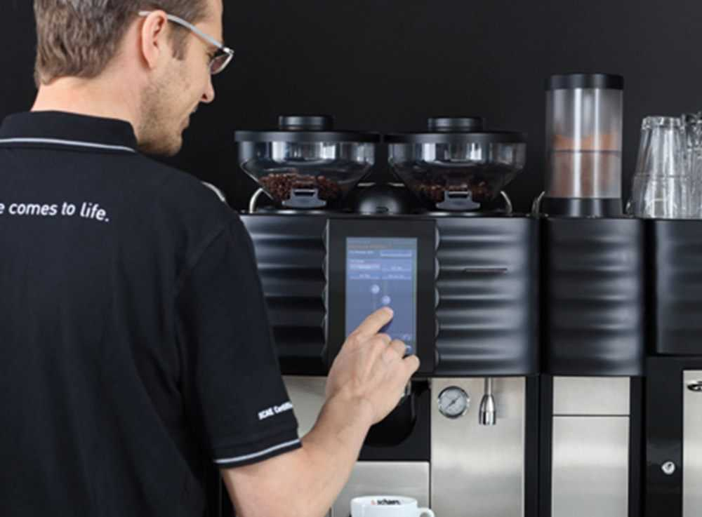 touch screen coffee machine