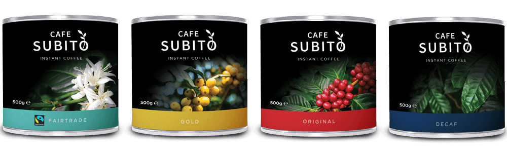 cafe subito coffee range