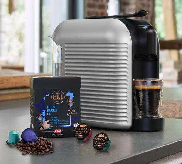 kfee capsule coffee machine with capsules
