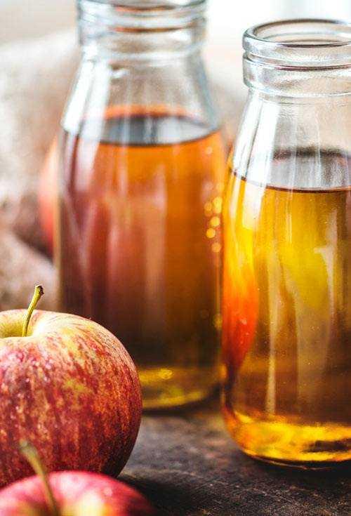 apple juice in glass bottles