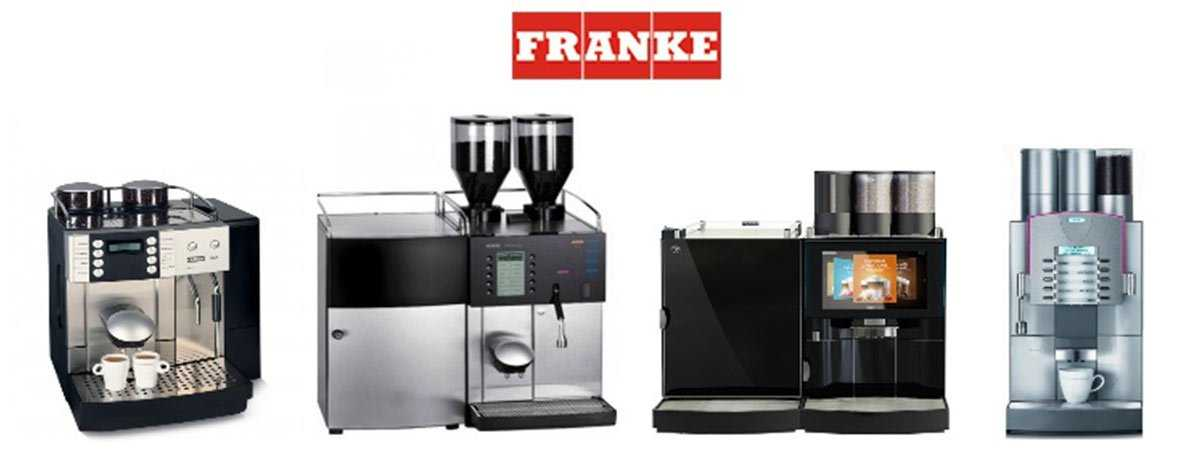 franke coffee machines in a row