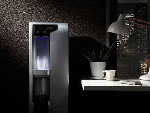mains fed water machine installed
