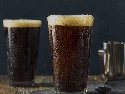 nitro cold brew coffee in glasses