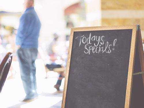specials cafe board