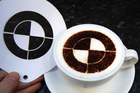 Branded coffee stencils