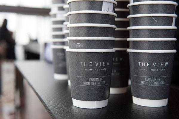 Branded coffee cup example