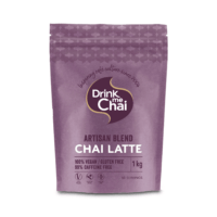 Artisan blend chai latte coffee