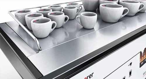 schaerer barista coffee machine heated cups