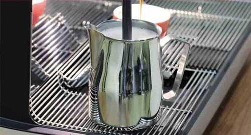 schaerer barista coffee machine milk jug