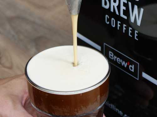 nitro cold brew dispensing from tap