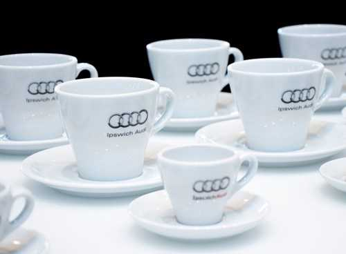 audi coffee cups