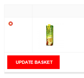 remove from basket option