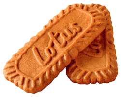 two lotus biscuits