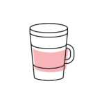 Reusable cup icon