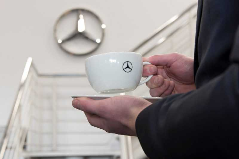 mercedes benz custom branded cup
