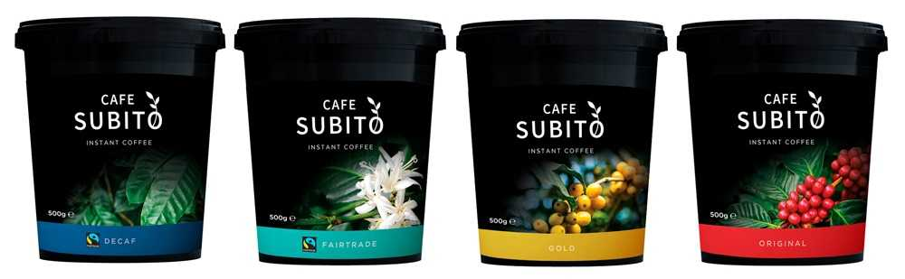 cafe subito instant coffee tins