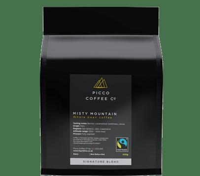 PICCO COFFEE CO FAIRTRADE MISTY MOUNTAIN COFFEE BEANS