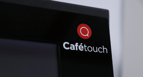 Close up of CafeTouch coffee machine